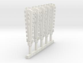 Techno Macuahuitl (x5) in White Natural Versatile Plastic