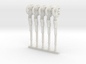 Techno-Wrench (x5) in White Natural Versatile Plastic