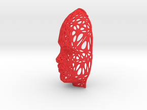 Femail Voronoi Face in Red Processed Versatile Plastic