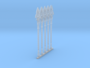 Techno-Spear 002a (x5) in Smooth Fine Detail Plastic
