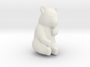 Panda 10cm tall in White Natural Versatile Plastic