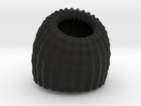 Brain Coral: Jewellery in Black Natural Versatile Plastic