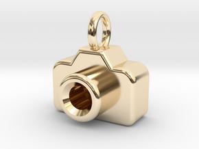 Mini DSLR Camera - Pendant in 14K Yellow Gold