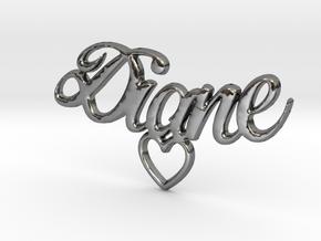 Diane Coeur Pendant in Premium Silver