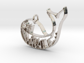 Oh whale... in Rhodium Plated Brass