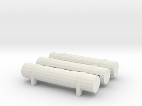 Hornby GWR Dining Car Gas Tanks in White Natural Versatile Plastic
