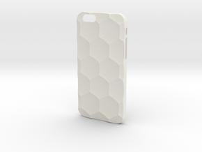 iPhone 6S Case_Hexagon in White Premium Versatile Plastic