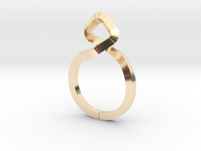 A-LINE Dancing D.011 Sharp, US size 5, d=15,5mm in 14k Gold Plated Brass: 5 / 49
