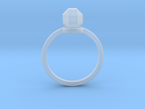 The ring with a diamond 1 carat in Smoothest Fine Detail Plastic: 6 / 51.5
