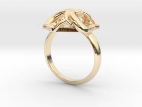 Monera Ring in 14k Gold Plated Brass: 6 / 51.5