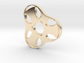 Trefoil Spinner - Red Strong & Flexible in 14K Yellow Gold