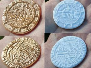 Uncharted: Spanish Gold Coin in White Natural Versatile Plastic