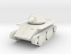 DW18A Leopard Light Tank E-10 (28mm) in White Natural Versatile Plastic