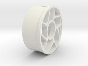 Fidget Spinner Rim 2.0 in White Natural Versatile Plastic