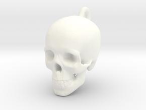 Skull Pendant in White Processed Versatile Plastic
