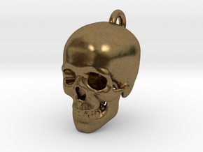 Skull Pendant in Natural Bronze