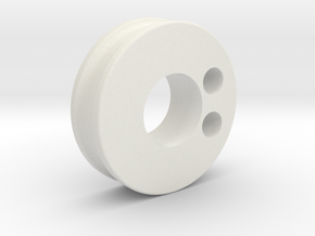 pulley_m in White Natural Versatile Plastic