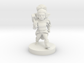 Halfling Female Cleric in White Natural Versatile Plastic