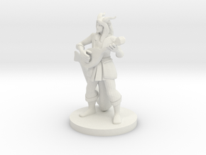 Tiefling Bard in White Natural Versatile Plastic