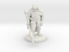 Werebear Knight in White Natural Versatile Plastic