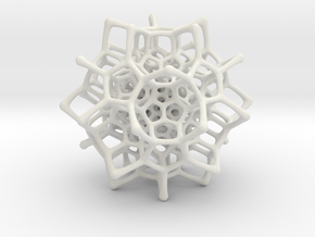 Christmas tree decoration ornament - 120cell_A2_r5 in White Natural Versatile Plastic: Small