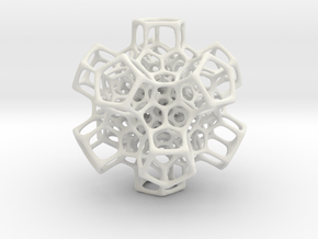 Christmas tree decoration ornament - 120cell_A5_r5 in White Natural Versatile Plastic: Small