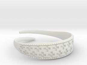 Viking Bracelet 2 in White Premium Versatile Plastic: Small