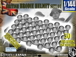 1/144 Brodie Helmet Set101 in Smoothest Fine Detail Plastic
