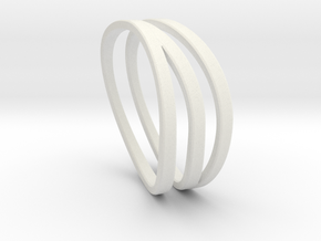 Wave ring in White Premium Versatile Plastic: 5.5 / 50.25