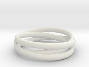 Triple alliance ring in White Premium Strong & Flexible: 6.25 / 52.125