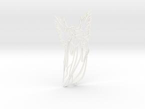 Angel charm in White Processed Versatile Plastic