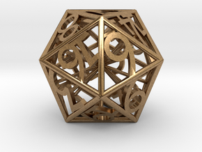 D20 Balanced - Numbers Only in Natural Brass