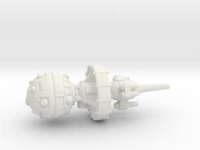 Belter Attack Cruiser v2 in White Premium Versatile Plastic