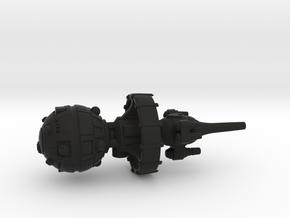 Belter Attack Cruiser v2 in Black Premium Versatile Plastic