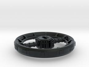 Orbital Ring City in Black Hi-Def Acrylate