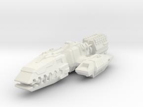 Colonial Battlewagon in White Premium Versatile Plastic