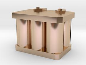 1/10 r/c battery in 14k Rose Gold