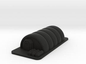 Temporary Shelter in Black Premium Versatile Plastic