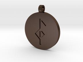 Health & Healing Pendant in Polished Bronze Steel