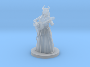 Tiefling Female Bard in Smooth Fine Detail Plastic