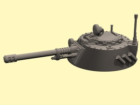 28mm IFV round turret auto cannon in White Strong & Flexible Polished