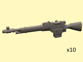 28mm Steampunk Mosin M1891 laser rifles in Smoothest Fine Detail Plastic