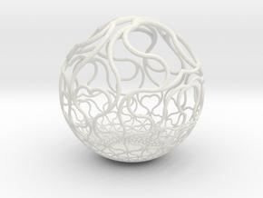 YyI Sphere B in White Natural Versatile Plastic