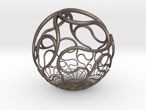 YyI Sphere in Polished Bronzed Silver Steel