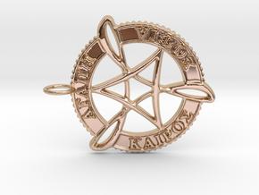 Agape Sophia Kairos Pendant in 14k Rose Gold Plated Brass