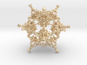 Rotated Icosahedron in 14k Gold Plated Brass