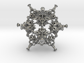 Rotated Icosahedron in Natural Silver