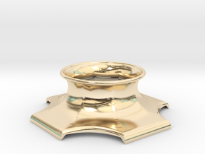 """The Universe Sphere Base """"LED Fitting"""" in 14k Gold Plated Brass"""