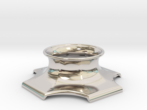 "The Universe Sphere Base ""LED Fitting"" in Rhodium Plated Brass"