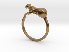 Feline Band - Ring version in Natural Brass: 4 / 46.5